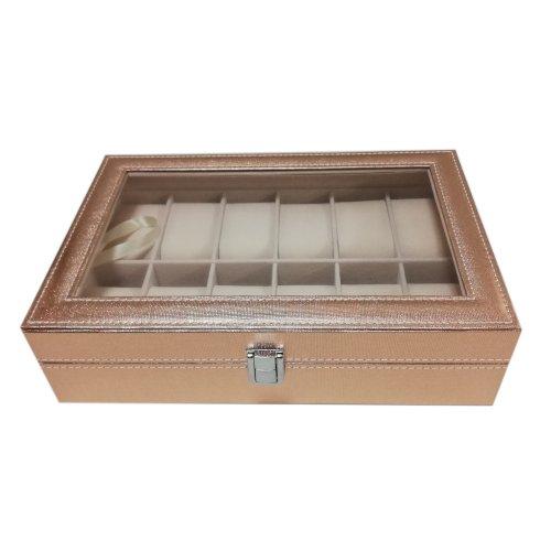 Cutie pentru 12 ceasuri de culoare auriu rose