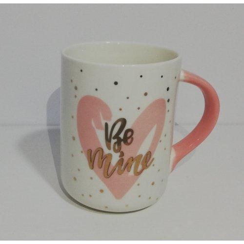 Cana Din Ceramica Cu Imprimeu Auriu 'Be Mine'