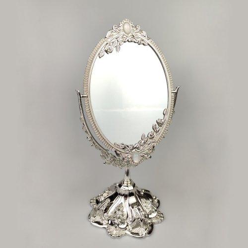 Oglinda argintata de masa, still Art Deco