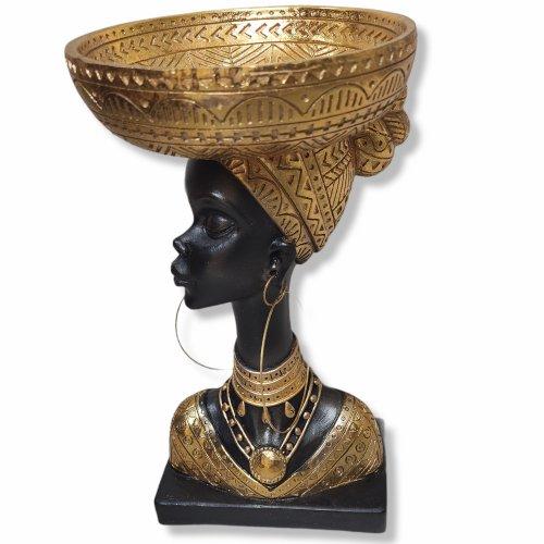 Decoratiune africana sau bomboniera, femeie cu cercei