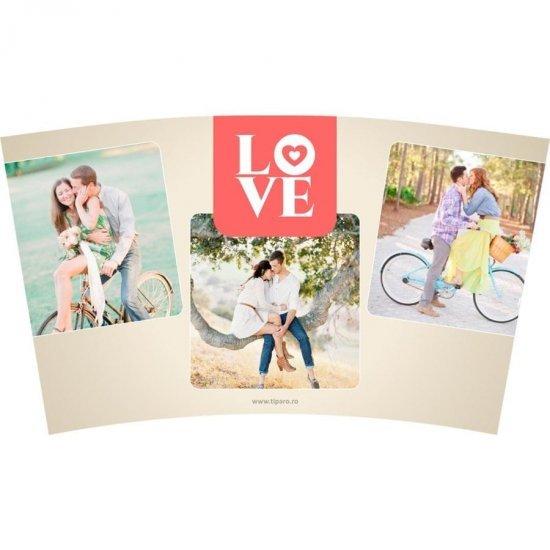 Cana termos Love cu trei poze
