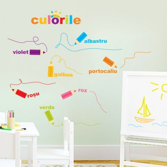 Sticker decorativ copii Creioanele Magice