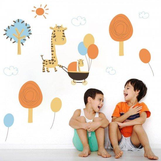 Stickere perete copii Familia de girafe