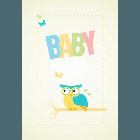 Tablou Canvas Baby Bufnita Colorata