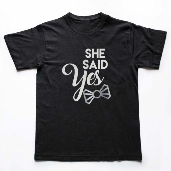 Tricou Barbati She Said Yes Silver