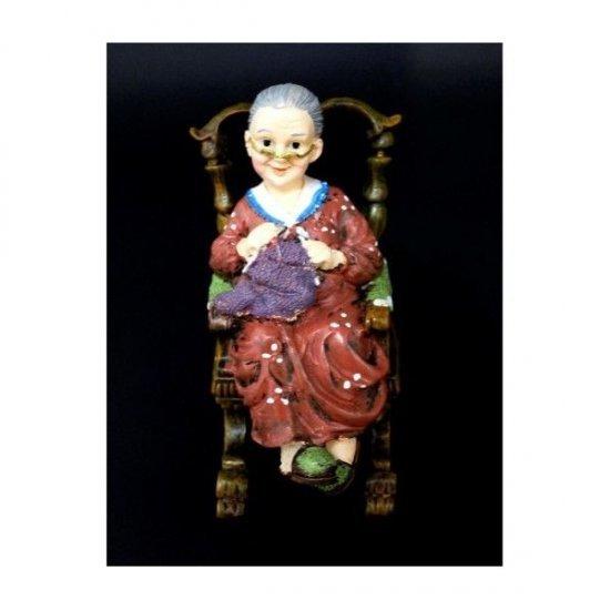 Stauteta decorativa din rasina Bunica pe Balansoar