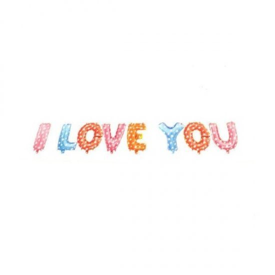 Decoratiuni nunta Baloane Folie I Love You
