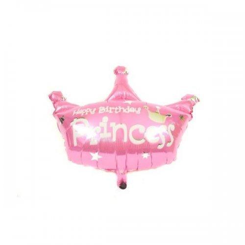 Baloane Din Folie In Forma De Coroana Roz Princess