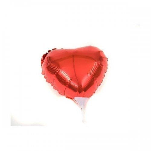 Balon Din Folie Rosie In Forma De Inima