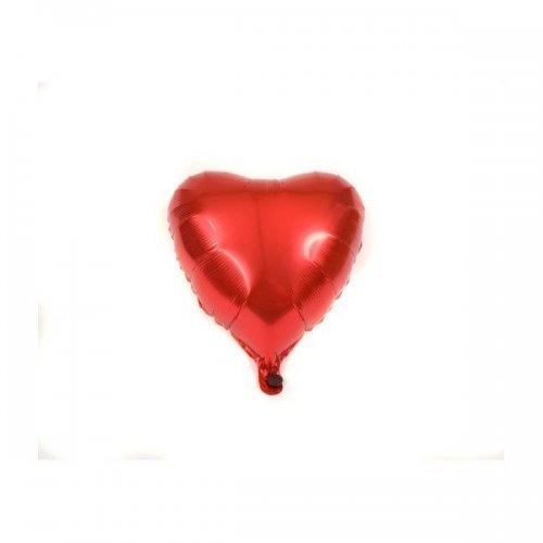 Balon Din Folie Rosie In Forma De Inima De 40Cm