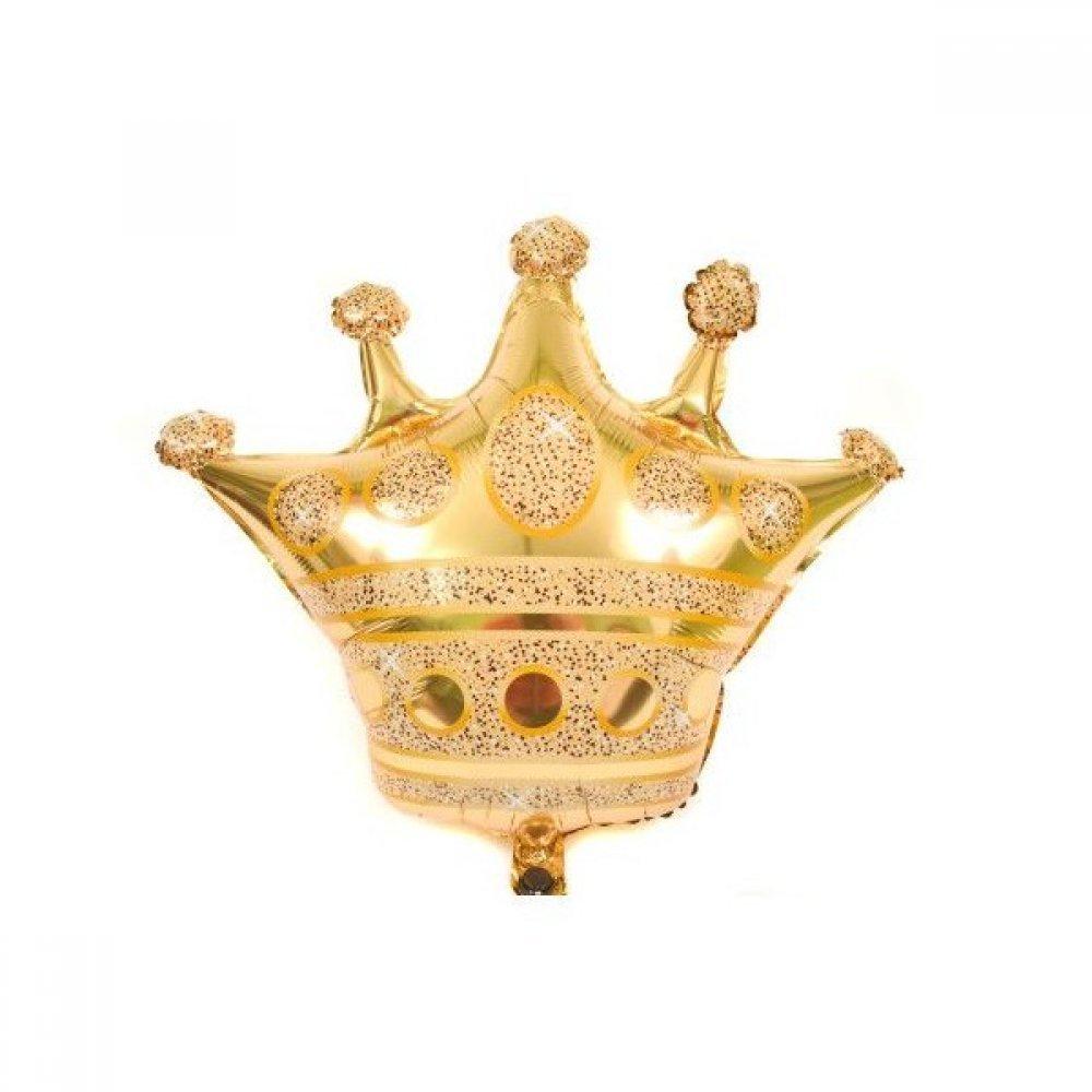 Baloane din folie in forma de coroana aurie
