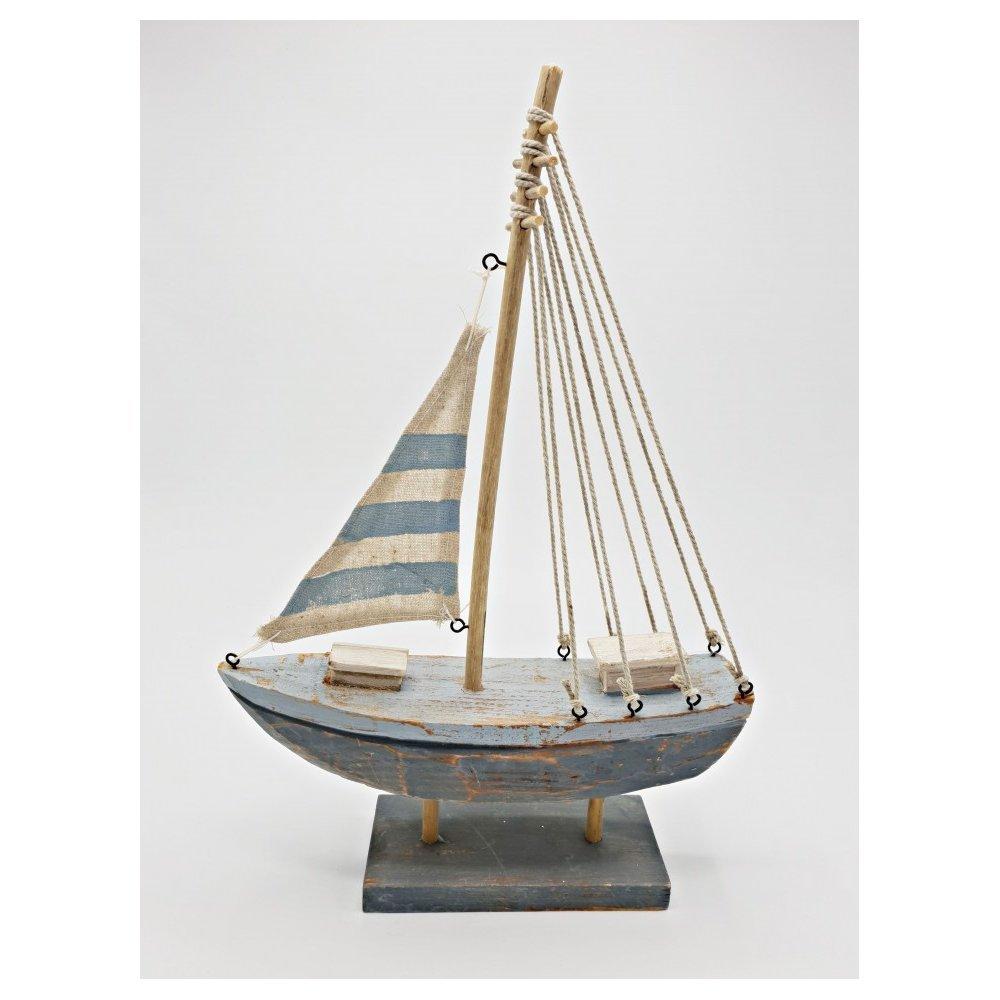 Decoratiune Barca medie bleu Seaside