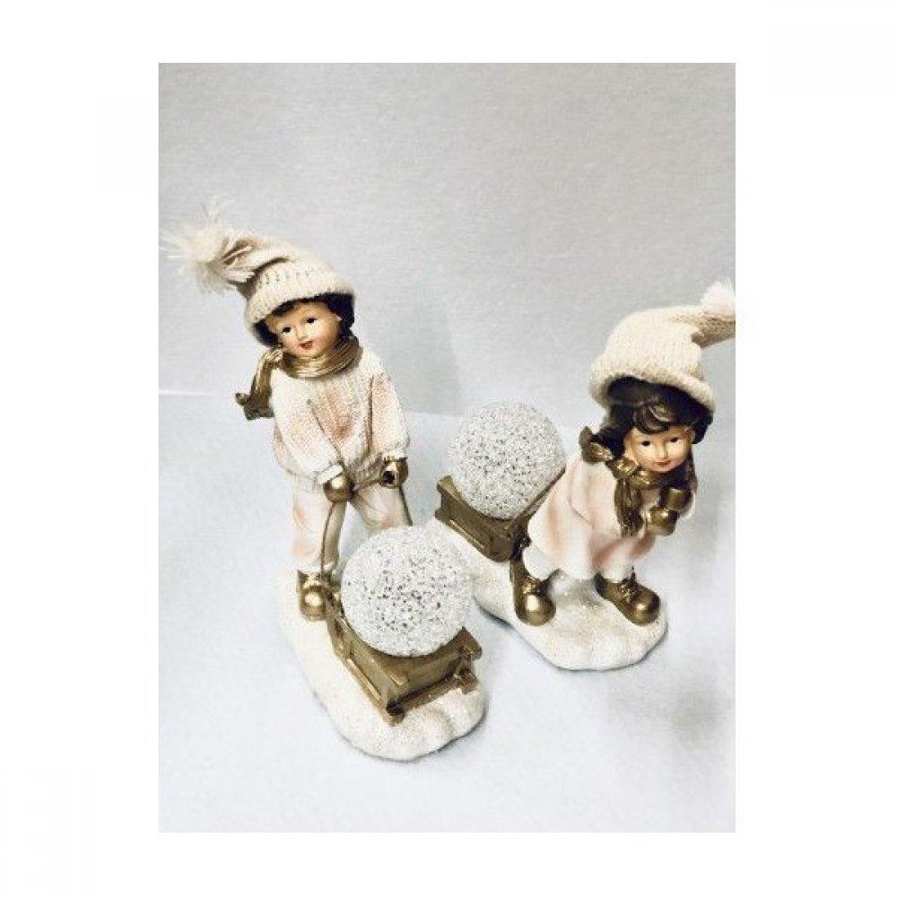 Cadouri Craciun decoratiuni Bibelou Copii Cu Glob Din Rasina