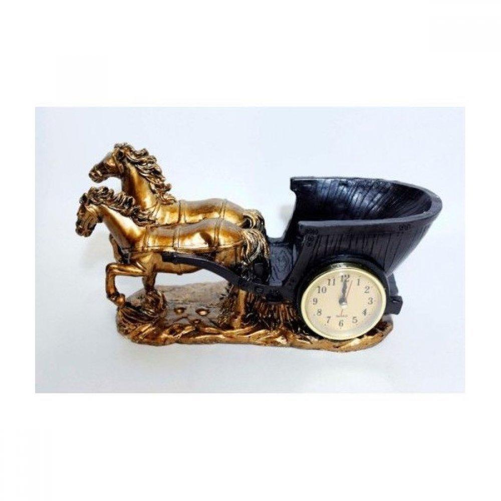Ceas de masa cu trasura trasa de cai