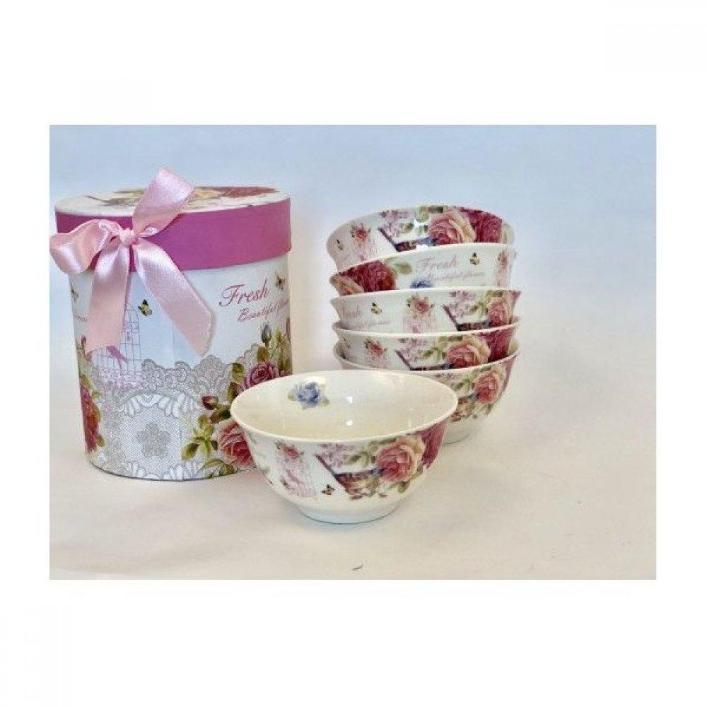 Set 6 boluri de ceramica - cutie cadou