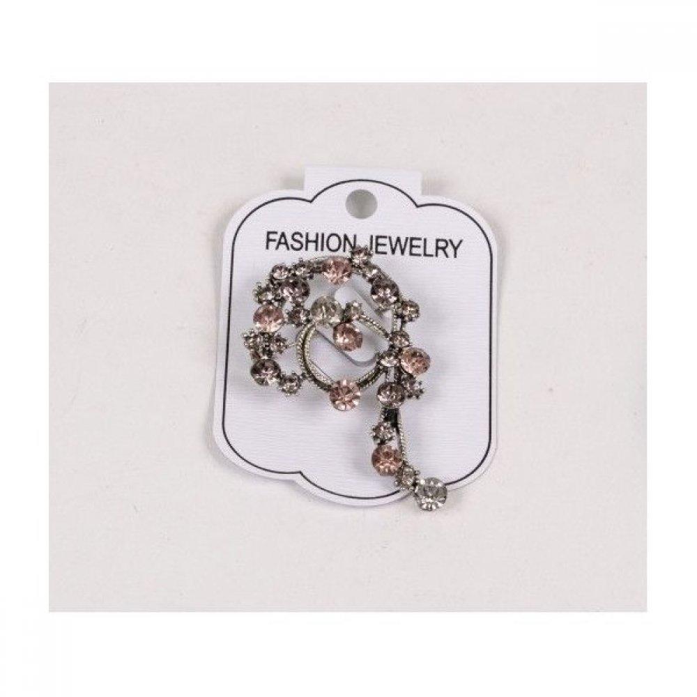 Brosa pentru aranjamente florale - Snur roz