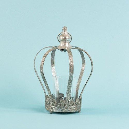 Candela Metal Coroana Argintie Be87