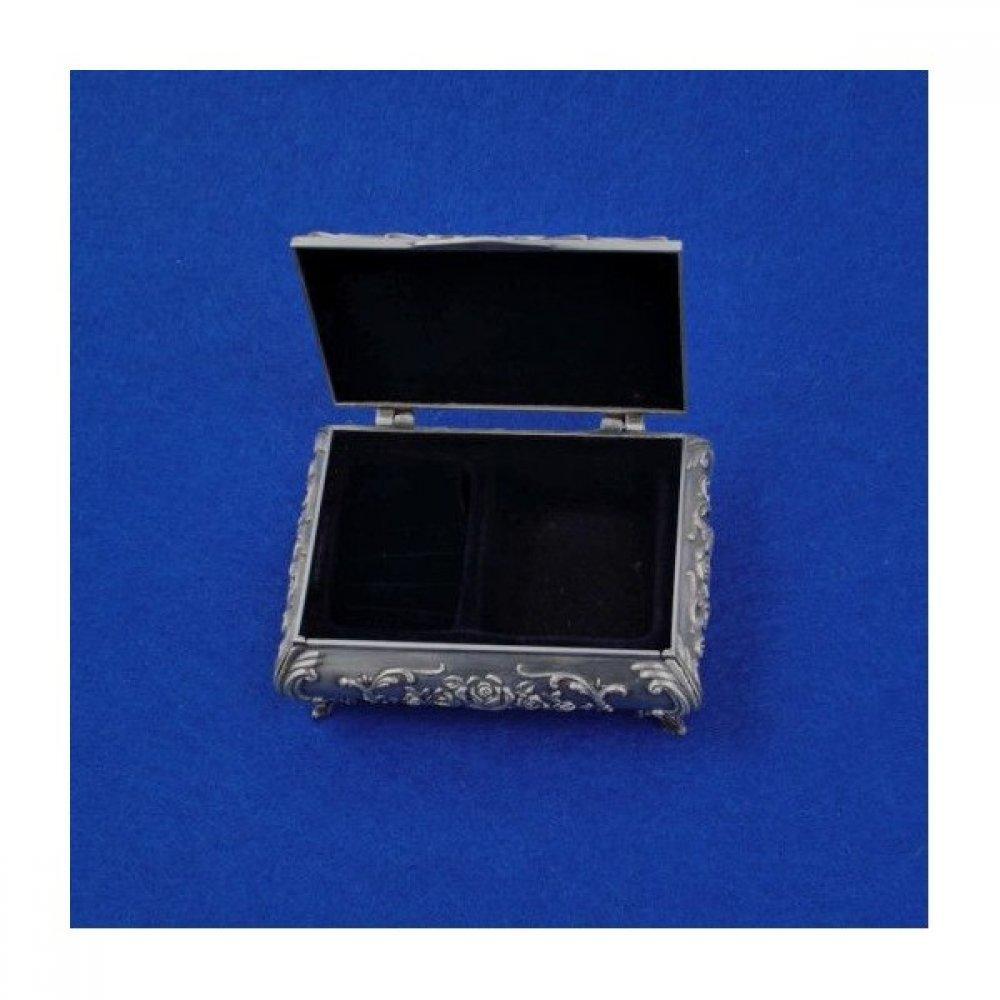 Cutie pentru bijuterii din antimoniu flower