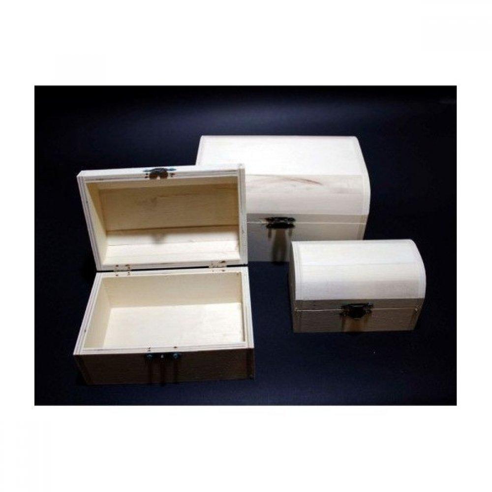 Cutii lemn blank  3 buc /set Cufar