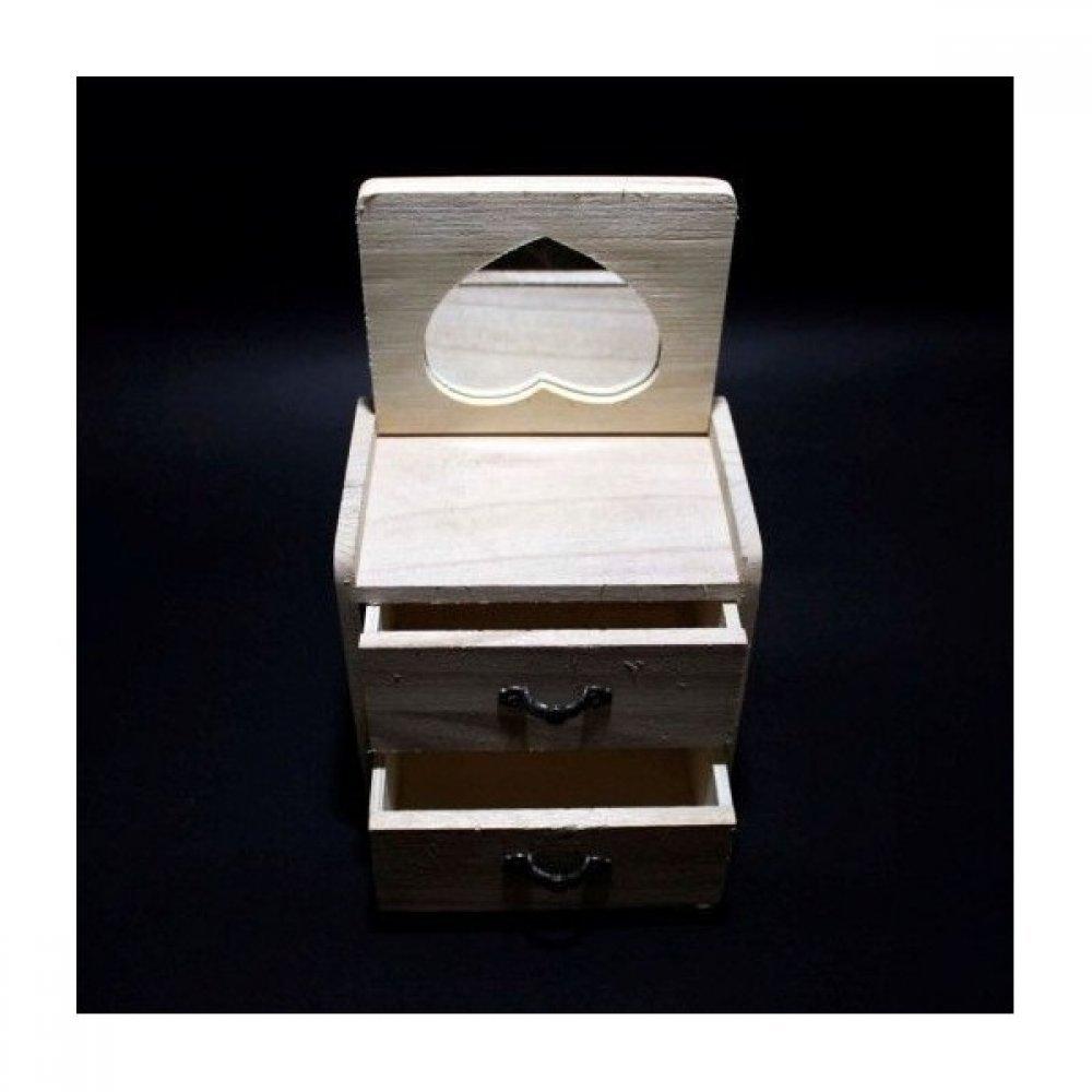 Cutii lemn tip caseta cu sertare