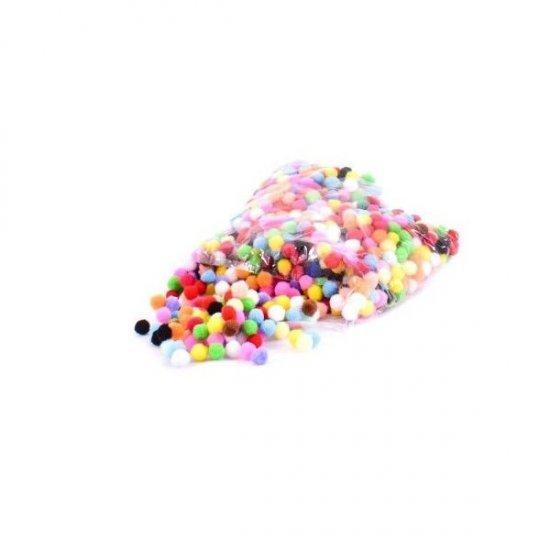 Ciucuri model Pom Pom Colorati 1 cm
