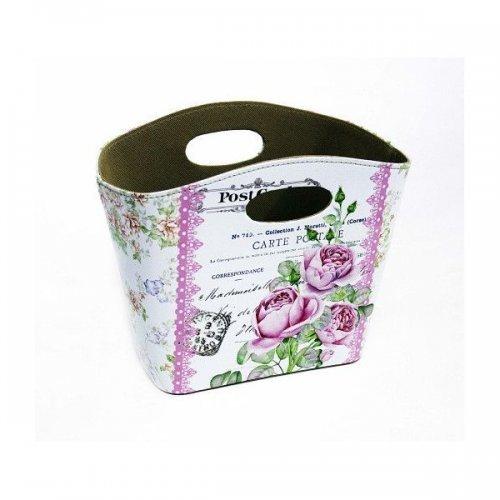 Cutie Pentru Flori In Forma De Cos Din Pvc Cu Decor Floral Si Carti Postale