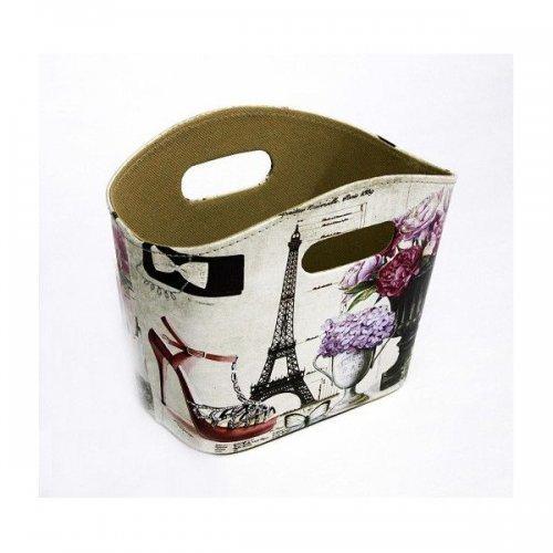 Cutie Pentru Flori Model Cos Din Pvc Decor Turnul Eifel