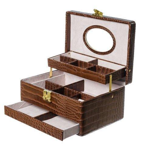 Cutie Bijuterii Inele Model Maro Croco Mat