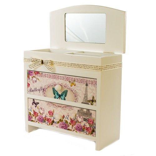 Cutie bijuterii, cu sertare si oglinda