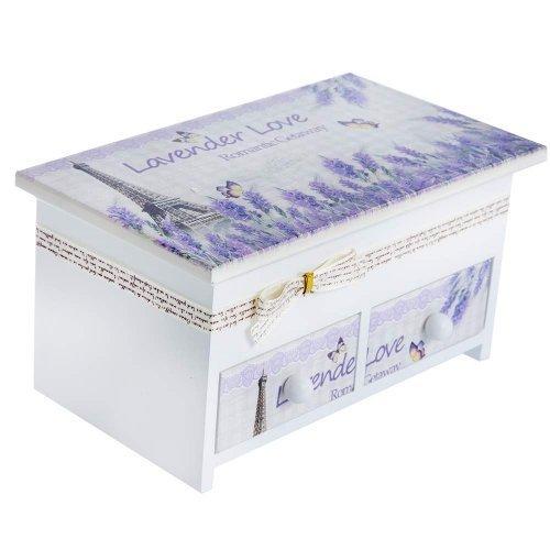 Cutie De Bijuterii Lavender Love Cu Fundita Si Sertare