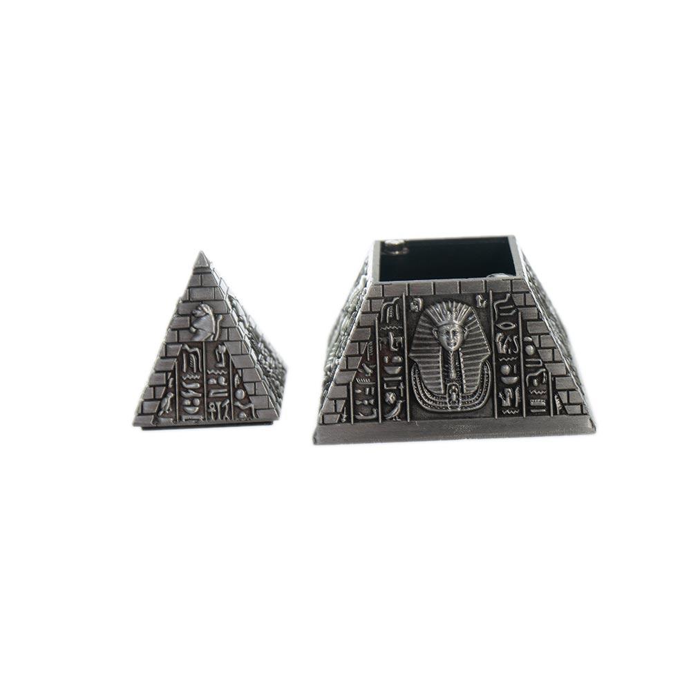 Cutie de bijuterii in forma de piramida din zinc - model mic