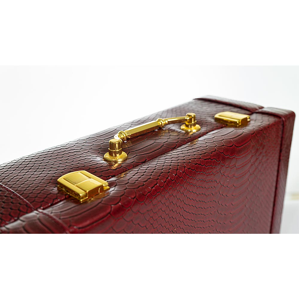 Cutie depozitare bijuterii stil geanta  visinie