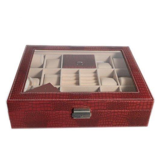 Cutie pentru 12 ceasuri si spatii speciale pentru inele si cercei