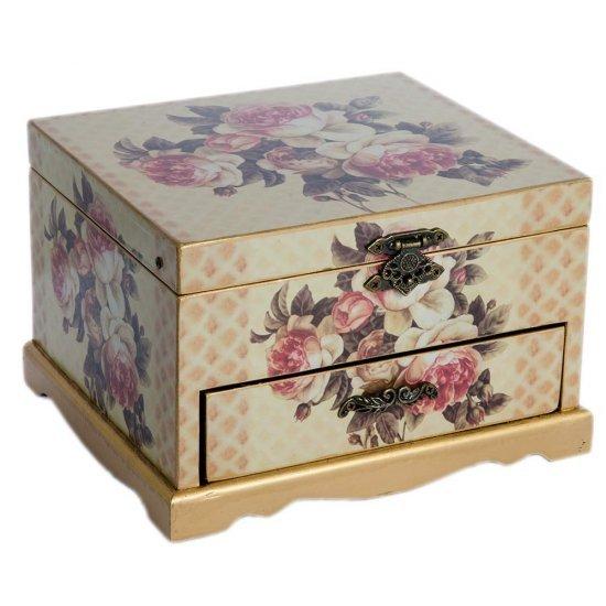 Cutie pentru bijuterii cu sertar, spatiu pentru depozitare si model atractiv