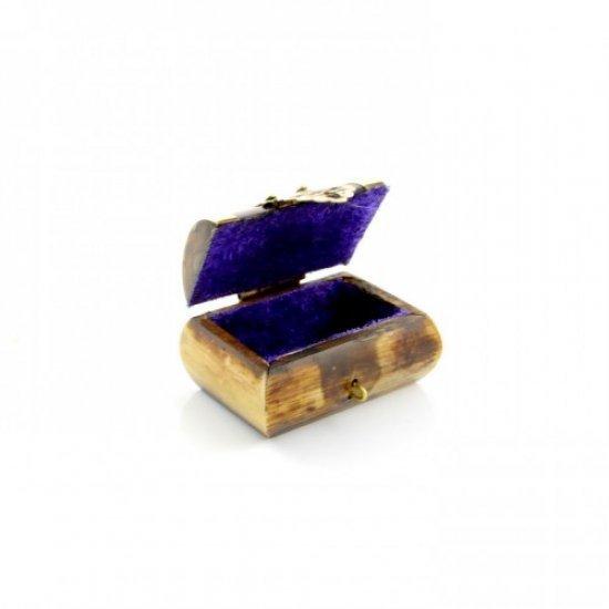 Cutie pentru bijuterii de marime mica din os (cutiuta pentru inel)