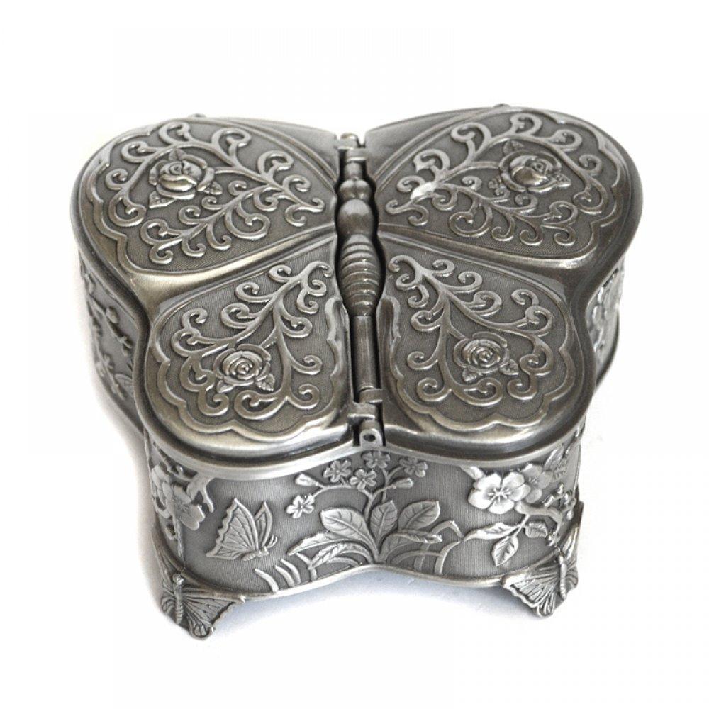 Cutie pentru bijuterii din antimoniu model fluture