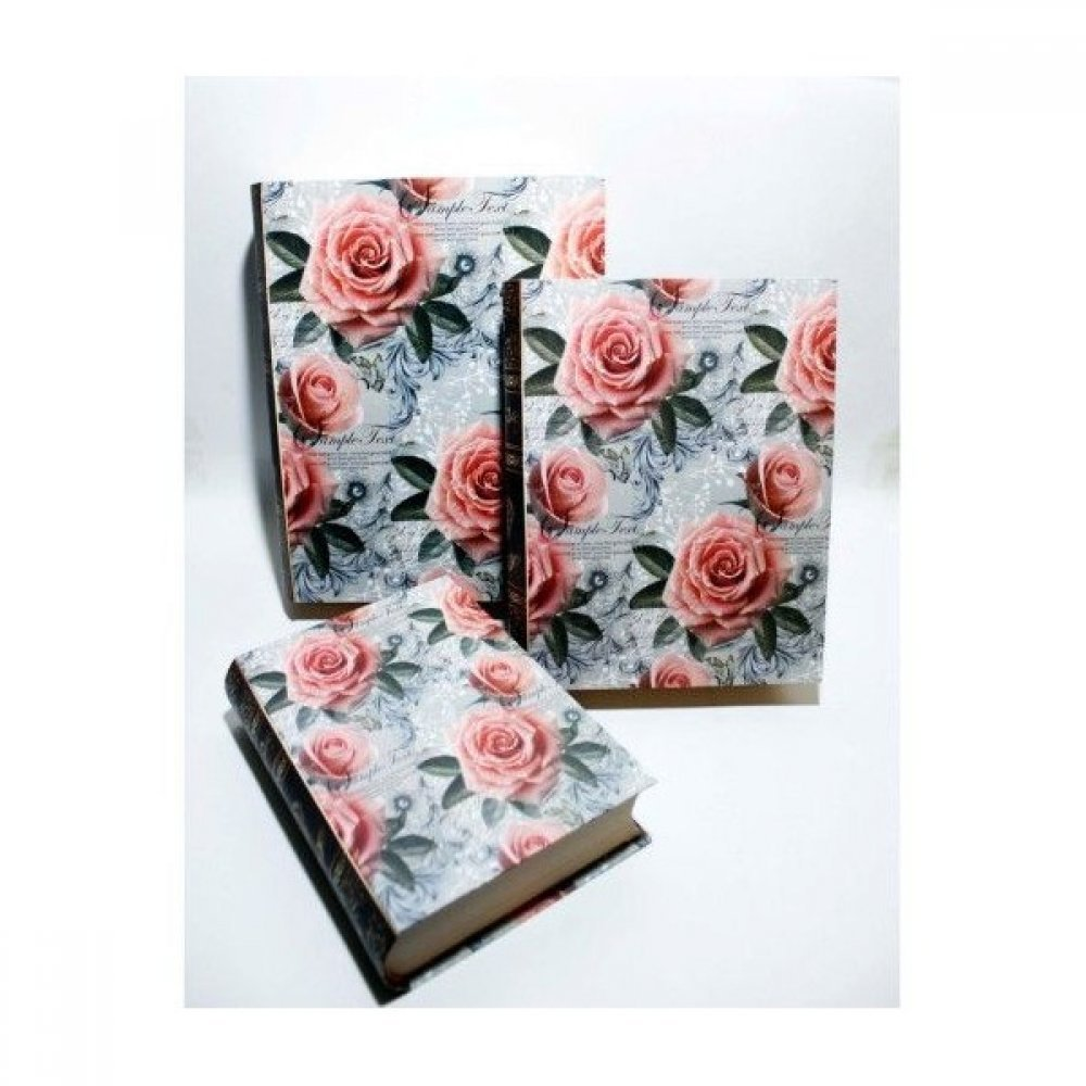 Cutii pentru flori - Carte cartonata cu trandafiri