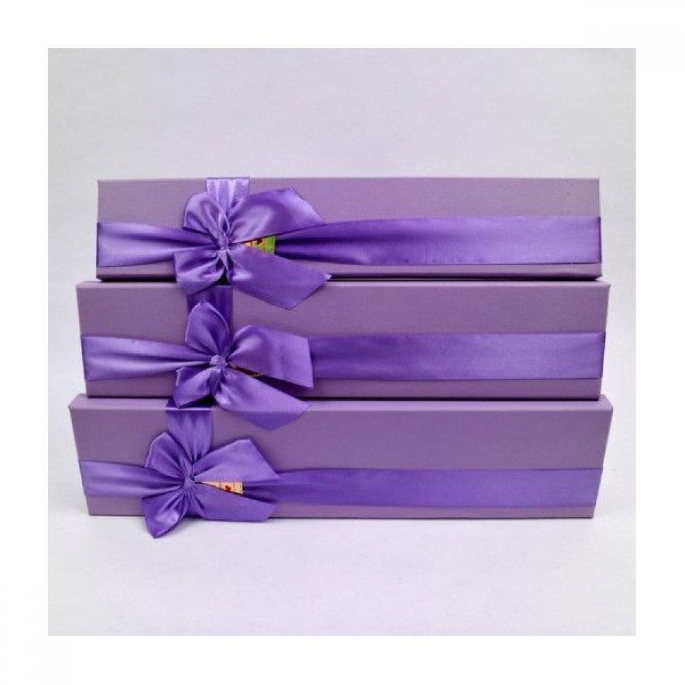 Cutii pentru flori din carton funda saten  3/set