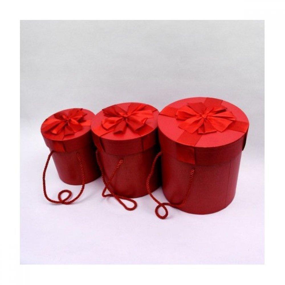 Cutii Carton Pentru Cadou Cilindrice Manere Siret 3/set