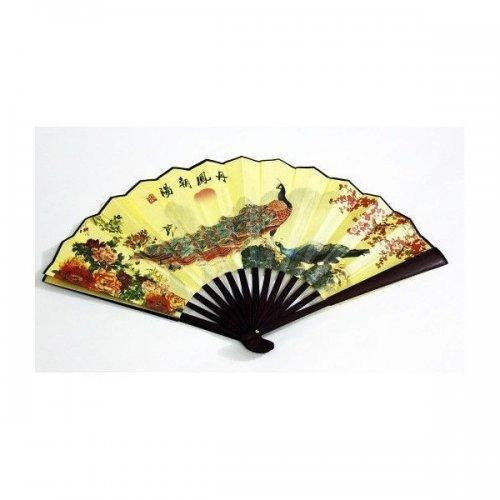 Evantai Traditional Chinezesc cu Pauni
