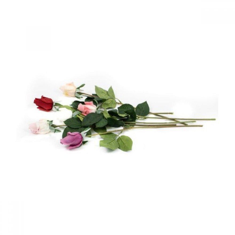 Flori Artificiale Boboc Trandafir Siliconat L 45cm
