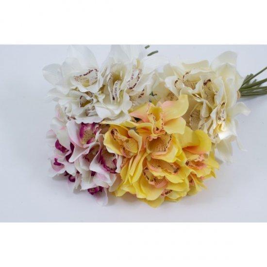 Flori Artificiale Buchet 12 Orhidee Legate