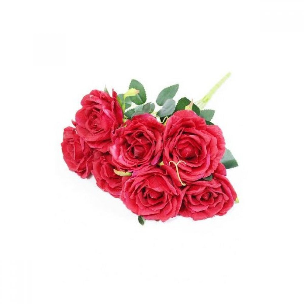 Flori Artificiale Buchet 7 Trandafiri Rosii