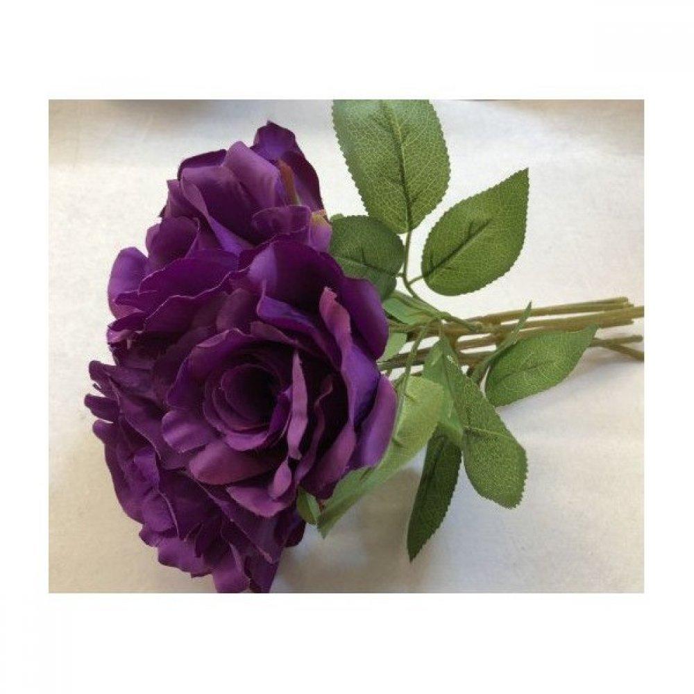 Flori Artificiale Buchet 7 Trandafiri Lipiti Mov