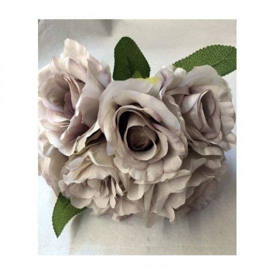Flori Artificiale Buchet 7 Trandafiri Lipiti Mov Prafuit Degrade