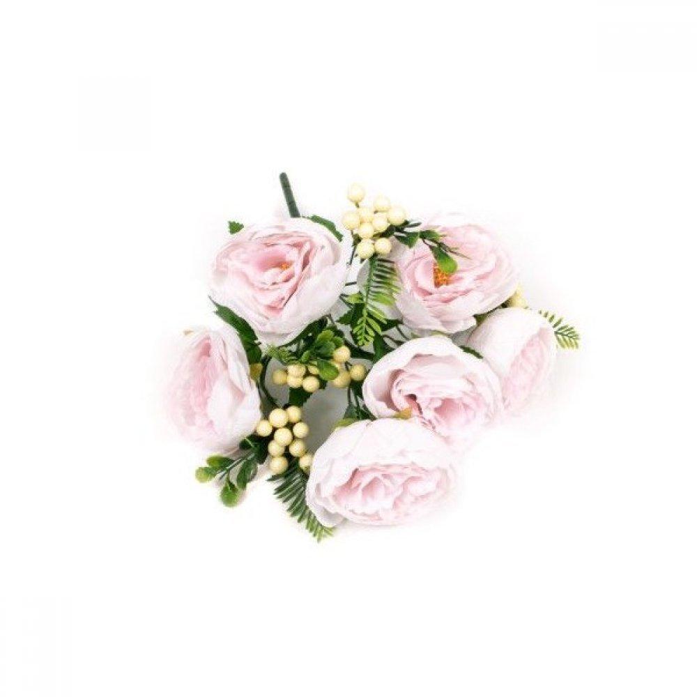 Flori Artificiale Buchet Bujori Bile Crem