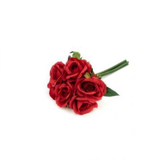 Flori Artificiale Buchet Cu 6 Trandafiri