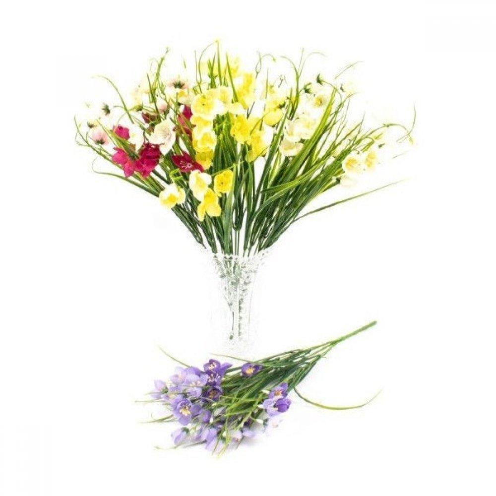 Flori Artificiale Buchet Flori De Camp Cu Iarba