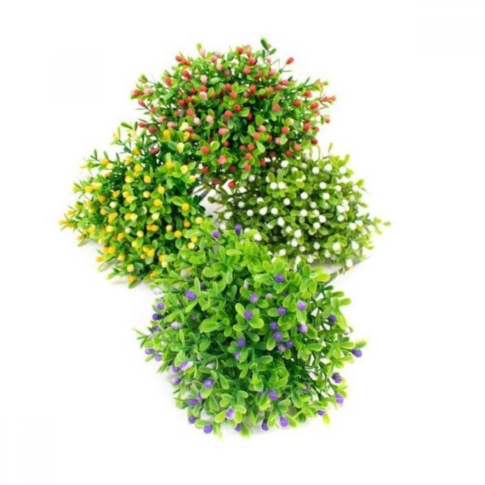 Flori Artificiale Buchet Funze Cu Bobite 10 Fire Legate