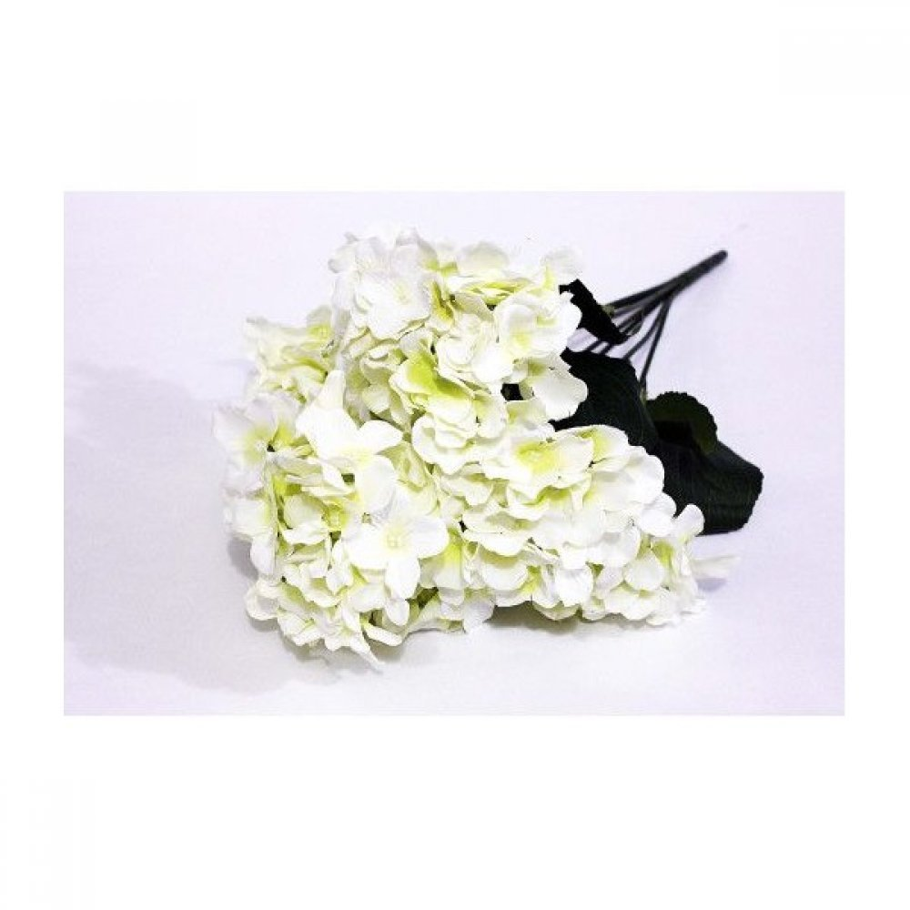 Flori Artificiale Buchet Hortensie 7 Flori Alb